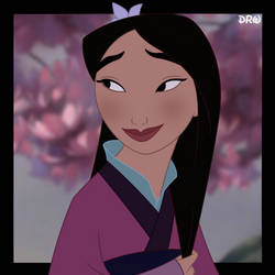 Mulan Cherry Blossom Portrait - Update