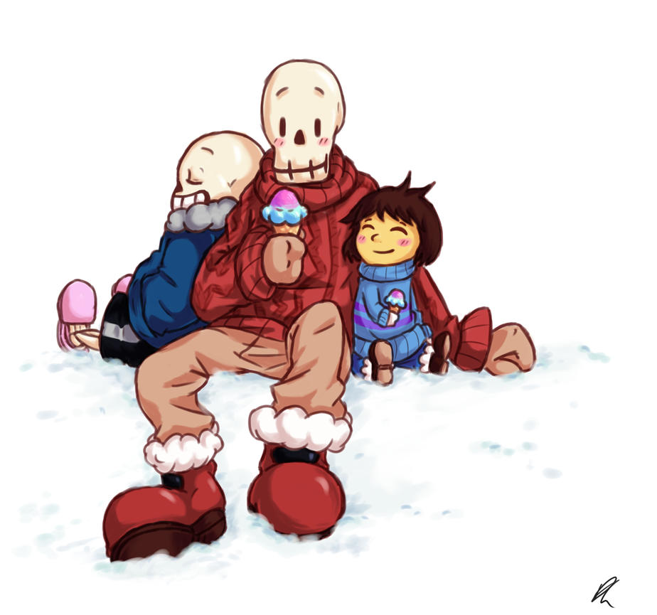 Chillin' with the Skele-bros by DizzieDoodles
