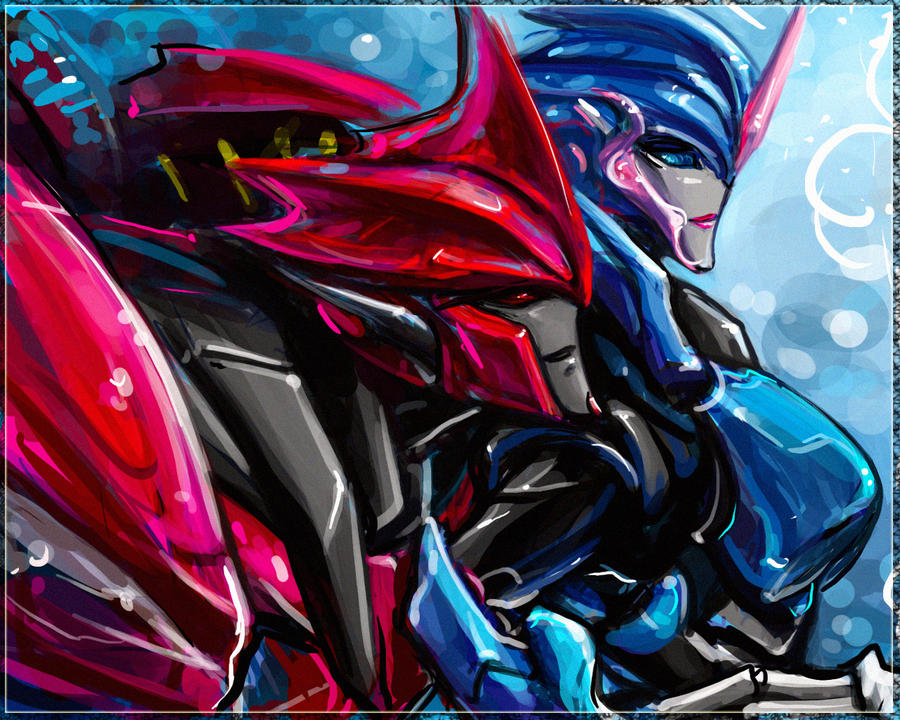 KnockOut and Arcee by Aiuke on DeviantArt