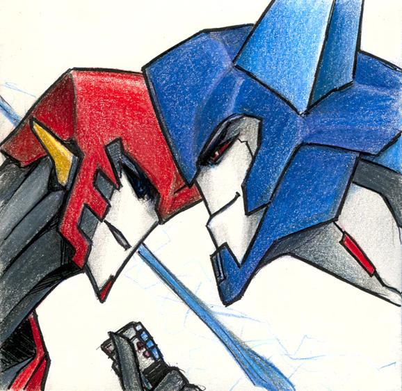 Sideswipe VS Thunderhoof By Aiuke On DeviantArt