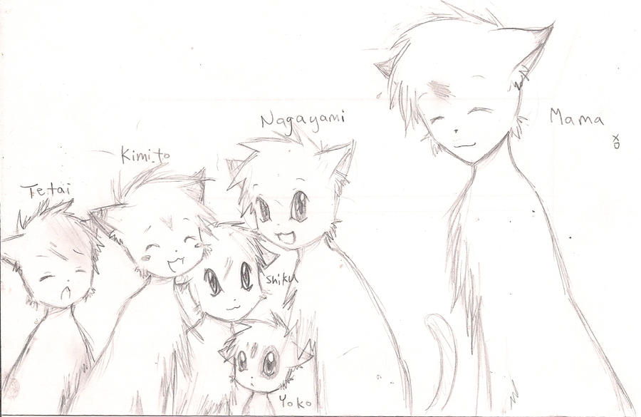 Nagayami's Family by aipuri