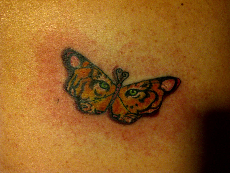 Tiger butterfly tattoo by cheshirepinky on deviantart for Tiger face in butterfly tattoo