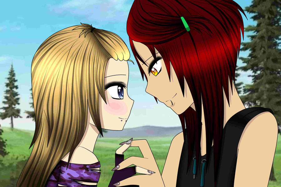 Mitsunari and Kagari by EvilMonkeyx3