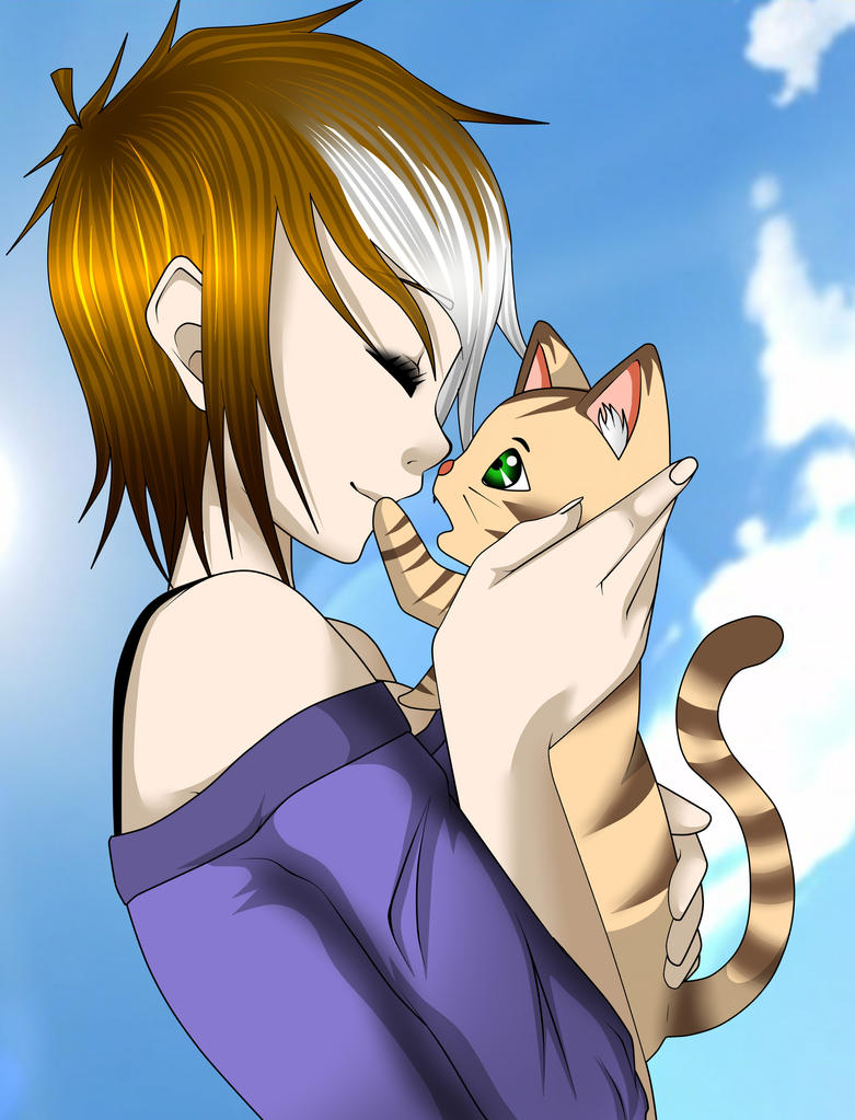 Hio and kitty by EvilMonkeyx3