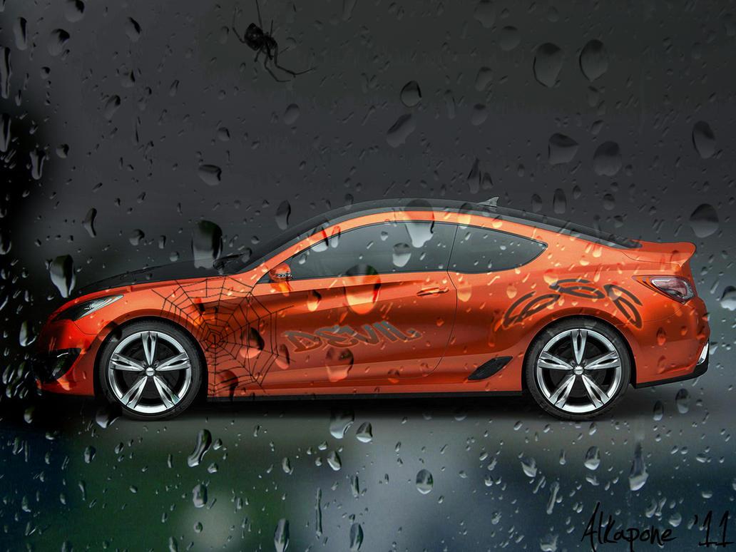 car on a wet - photo #1
