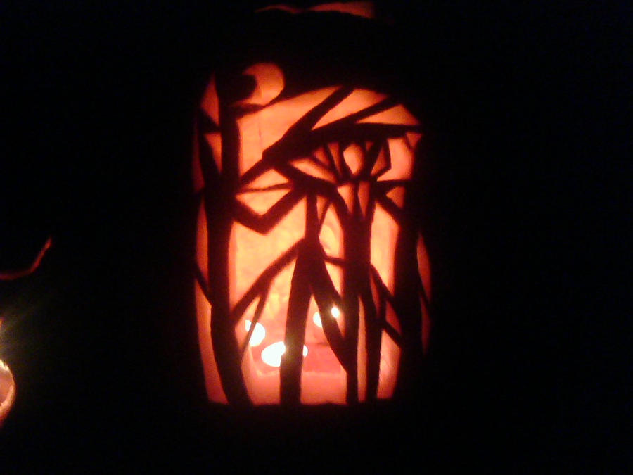 Slender Man Pumpkin by shematite