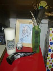 Altare votivo ad Odino by Fayewiccan