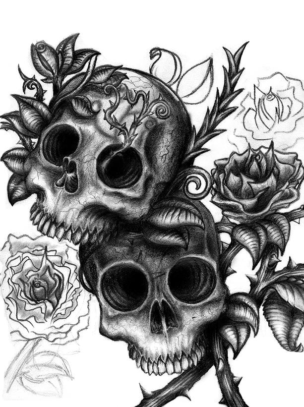 Calaveras parte ii taringa for Skull love tattoos
