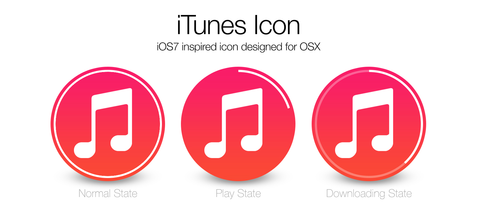 iOS7 iTunes icon for OSX