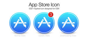 iOS7 App Store icon for OSX