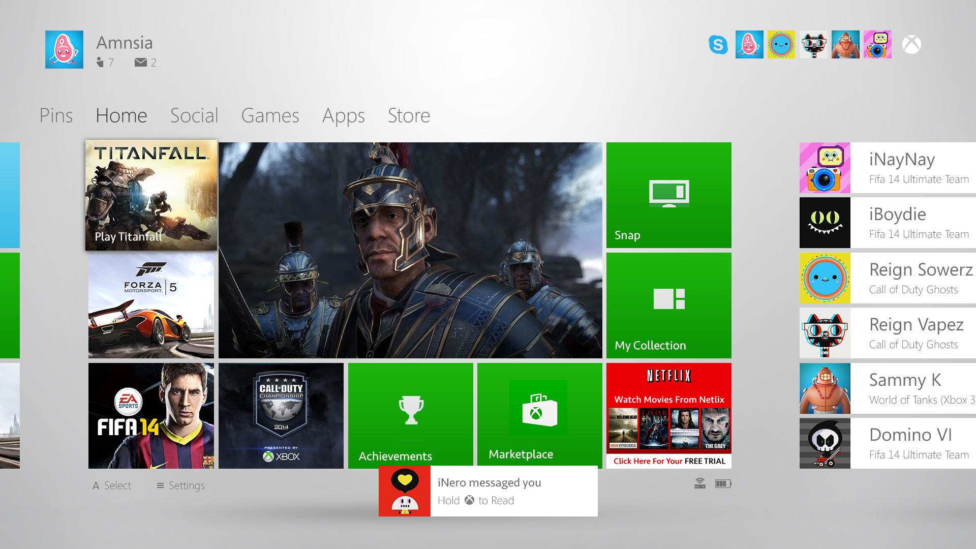 Xbox One Dashboard Concept By JonnyBurgon On DeviantArt