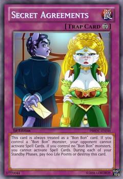 Secret Agreements (Pleasure Bon Bon)Yu-Gi-Oh! Card
