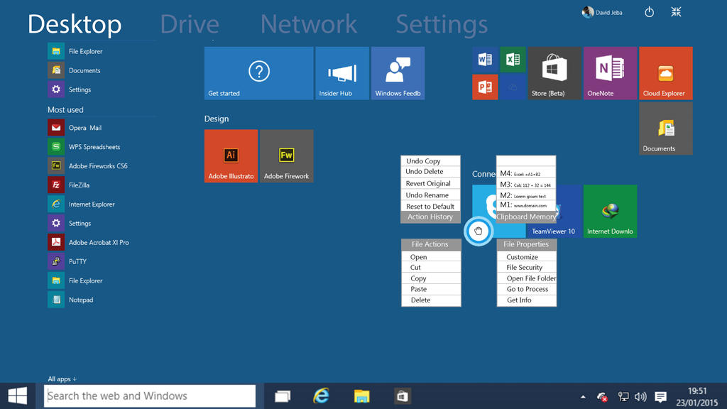 how to open 2 desktops on windows 10