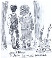 The Cure:Simon+Robert In Japan by blissfullydeadx