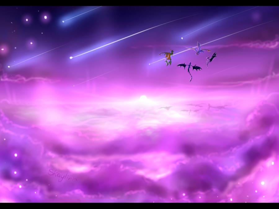 Purple Sky by Skaylina