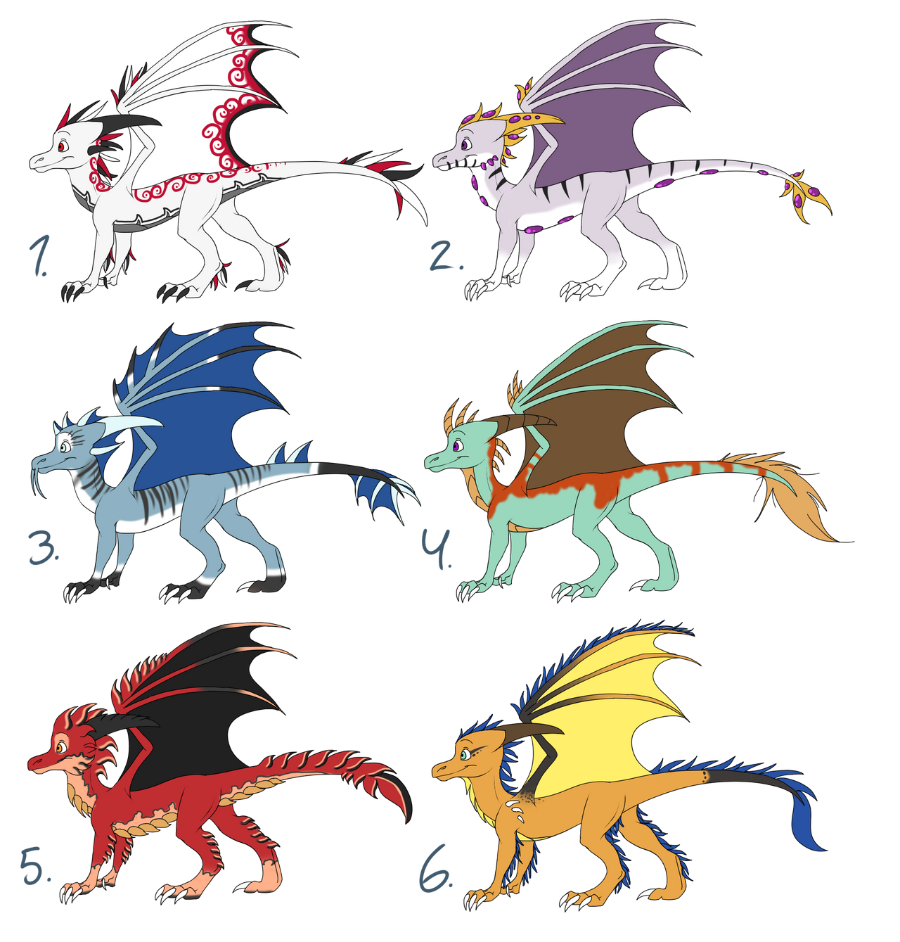Dragon Adoptables - ALL SOLD by Skaylina