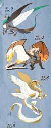 Dragon Adoptables - 4/4 CLOSED by Skaydiex