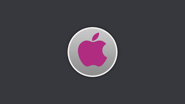 Apple Circle Wallpaper Violet