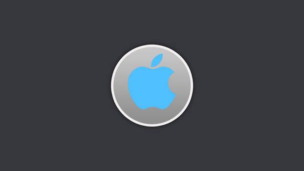 Apple Circle Wallpaper Blue
