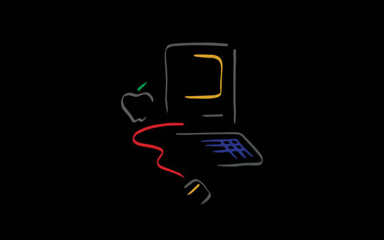 Picasso Mac on black background