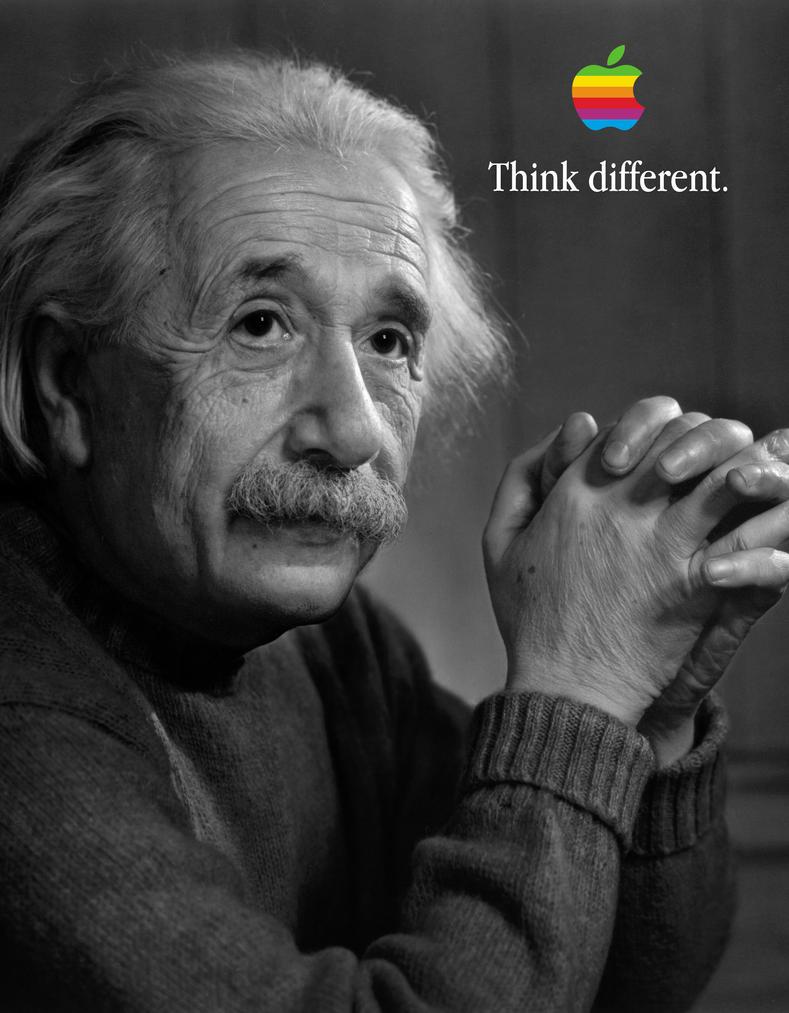 Albert Einstein Think different by howiedi2