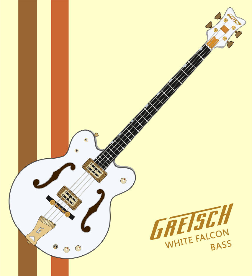 Gretsch White Falcon Bass By Tahikpalat