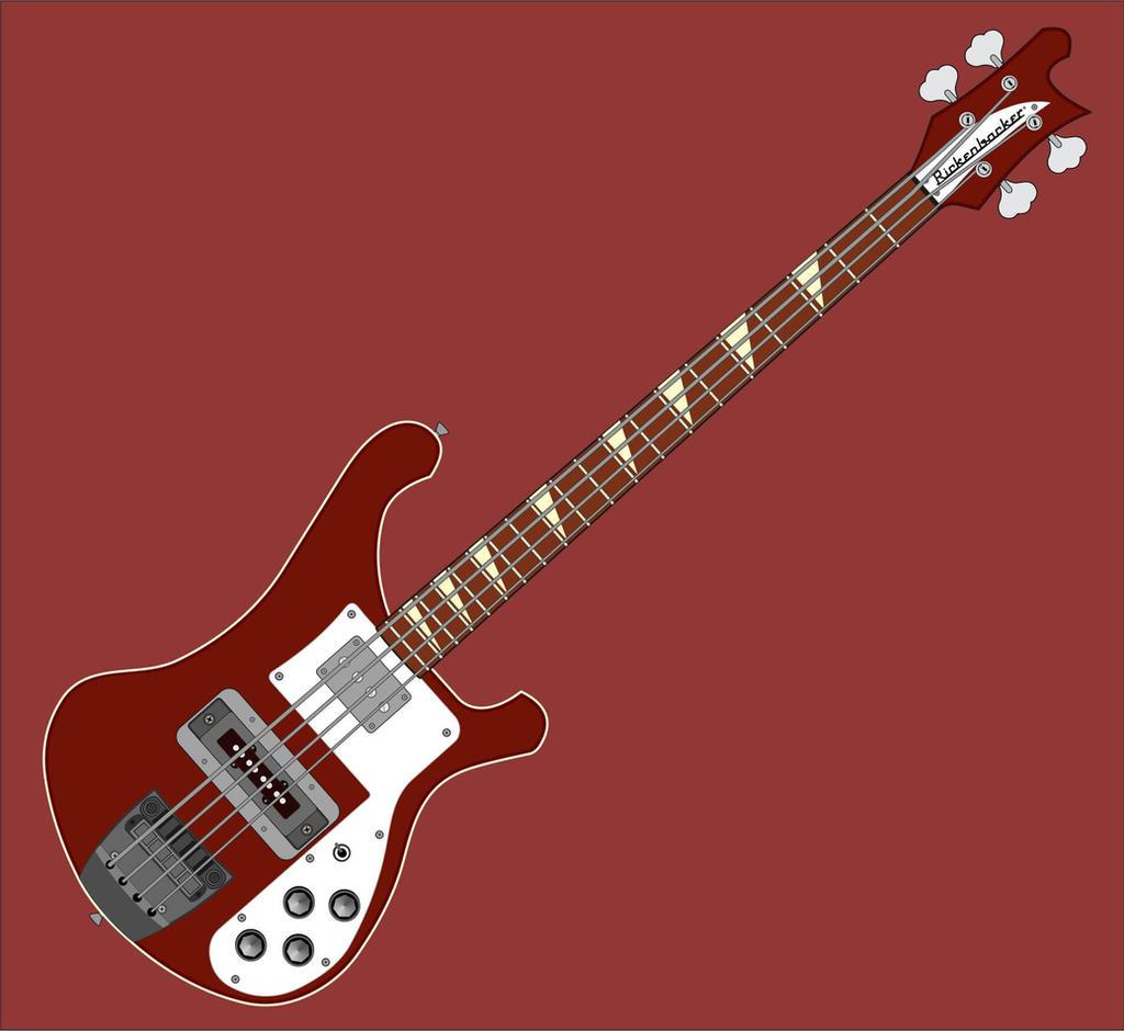 Cliff Burton's Rickenbacker 4001 Bass by tahikpalat on