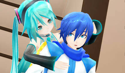 (MMD)Don't Leave Meh Here,Onne-Chan!