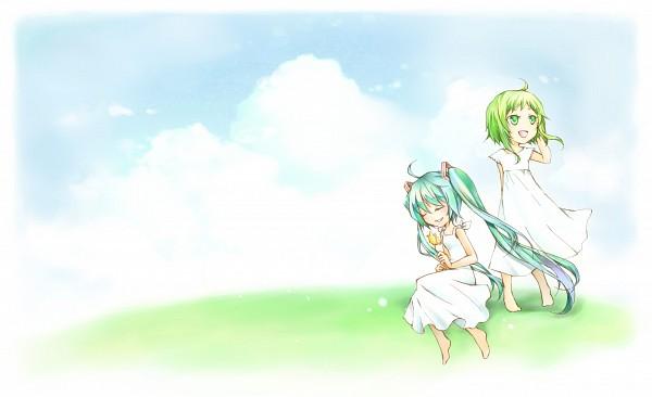 miku and gumi wallpaper by xX,anime,kawaii,Xx