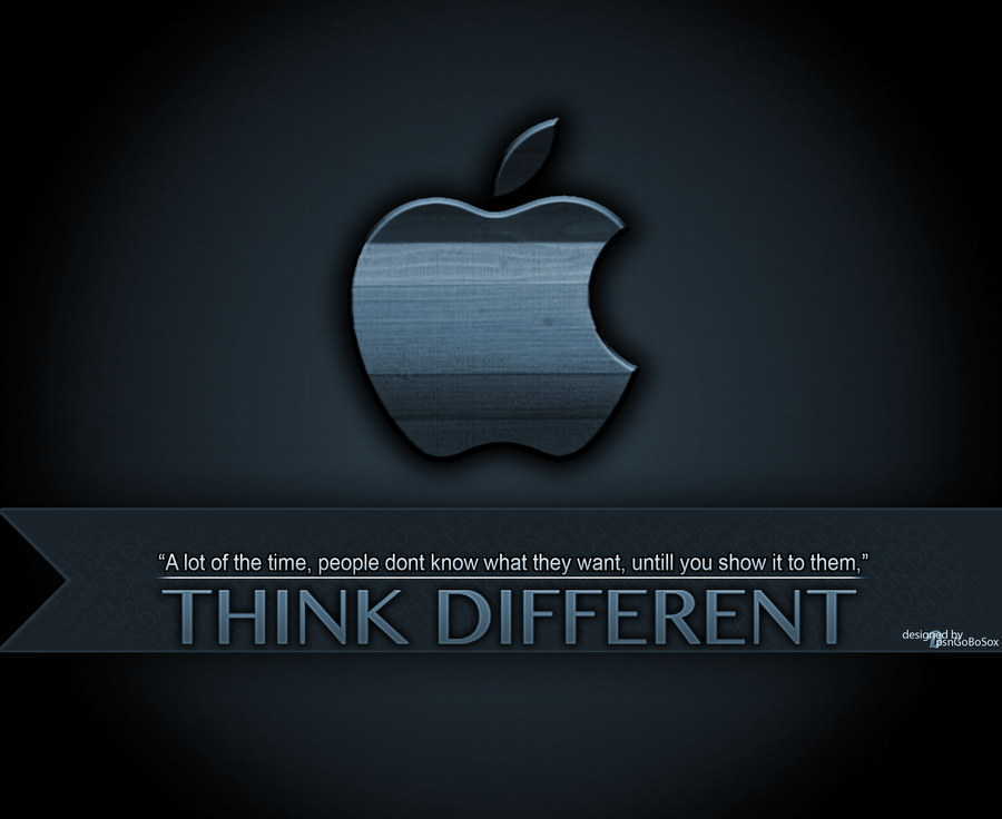 analysis of apple advertising think different Apple has forgotten how to 'think different' jan along with a good dose of residual think different aapl's senior vp of worldwide marketing had this to.