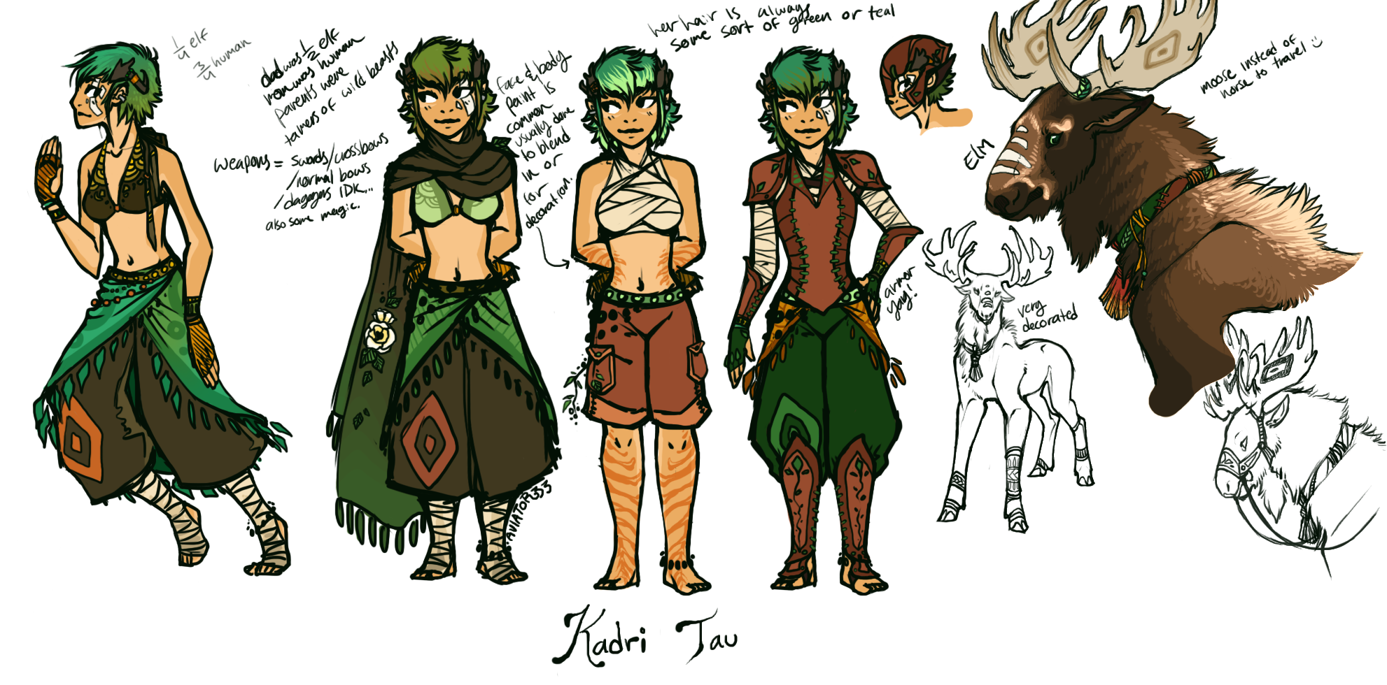 Character Design D D : Dnd druid character by hauket on deviantart