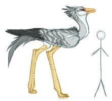 Grey Bird Creature by Hauket