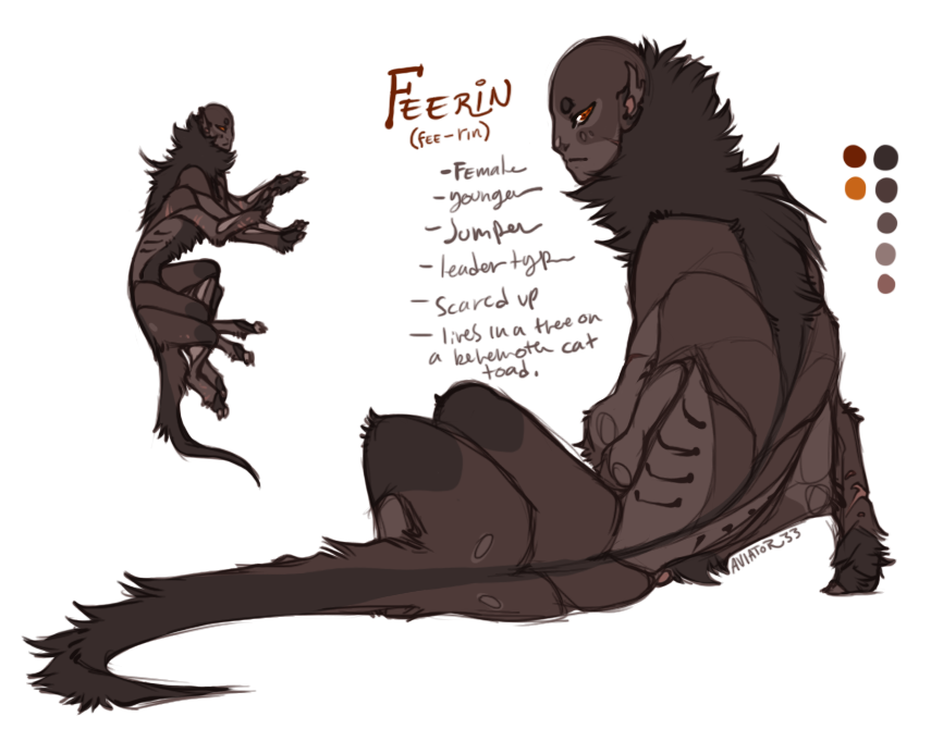 Feerin Sketch Ref by Aviator33
