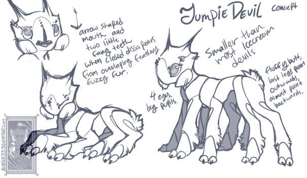 JumpieDevil concept sketch
