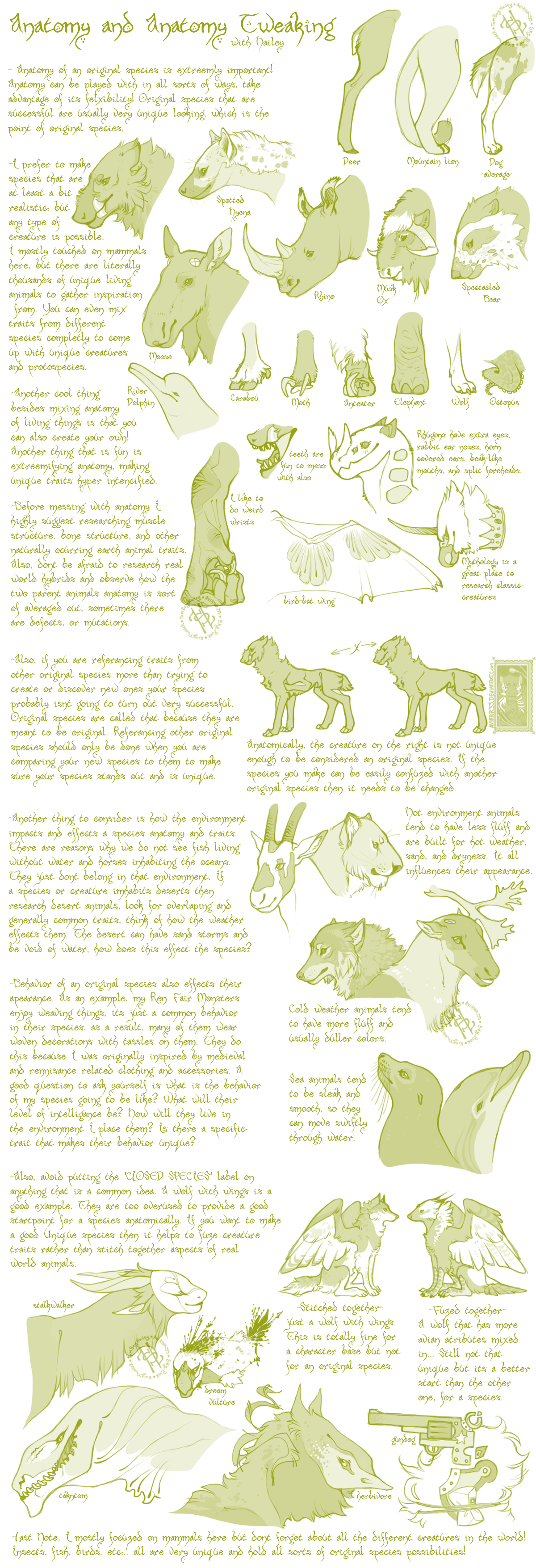 Species Anatomy Tut/Guide by Aviator33
