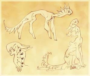 Tune creature doodles