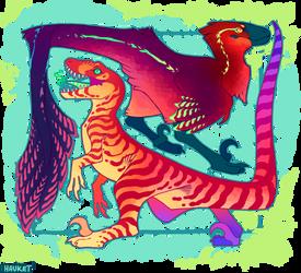 .:Colorful Utahraptors:.
