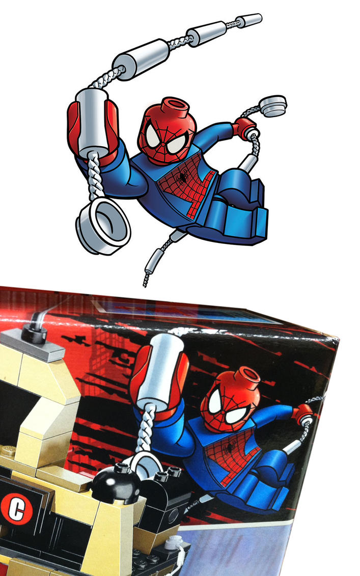 Attractive Lego SPIDERMAN 2 Package Art By RobKing21 ...