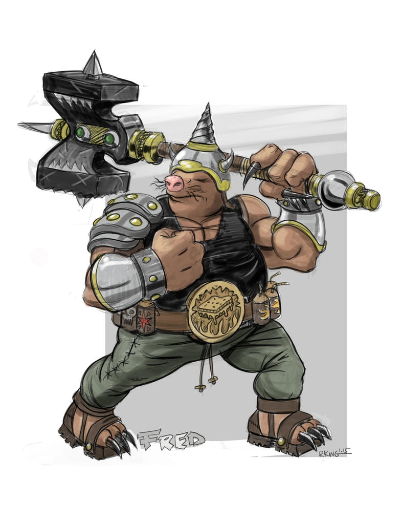 Fred Diggar - the mole warrior by RobKing21