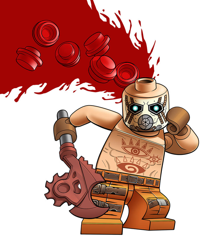 Lego Minifig - Borderlands Psycho by RobKing21
