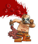 Lego Minifig - Borderlands Psycho