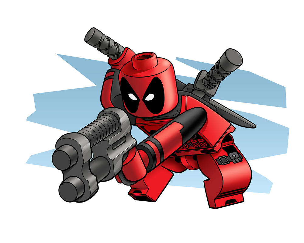 Lego Deadpool by RobKing21