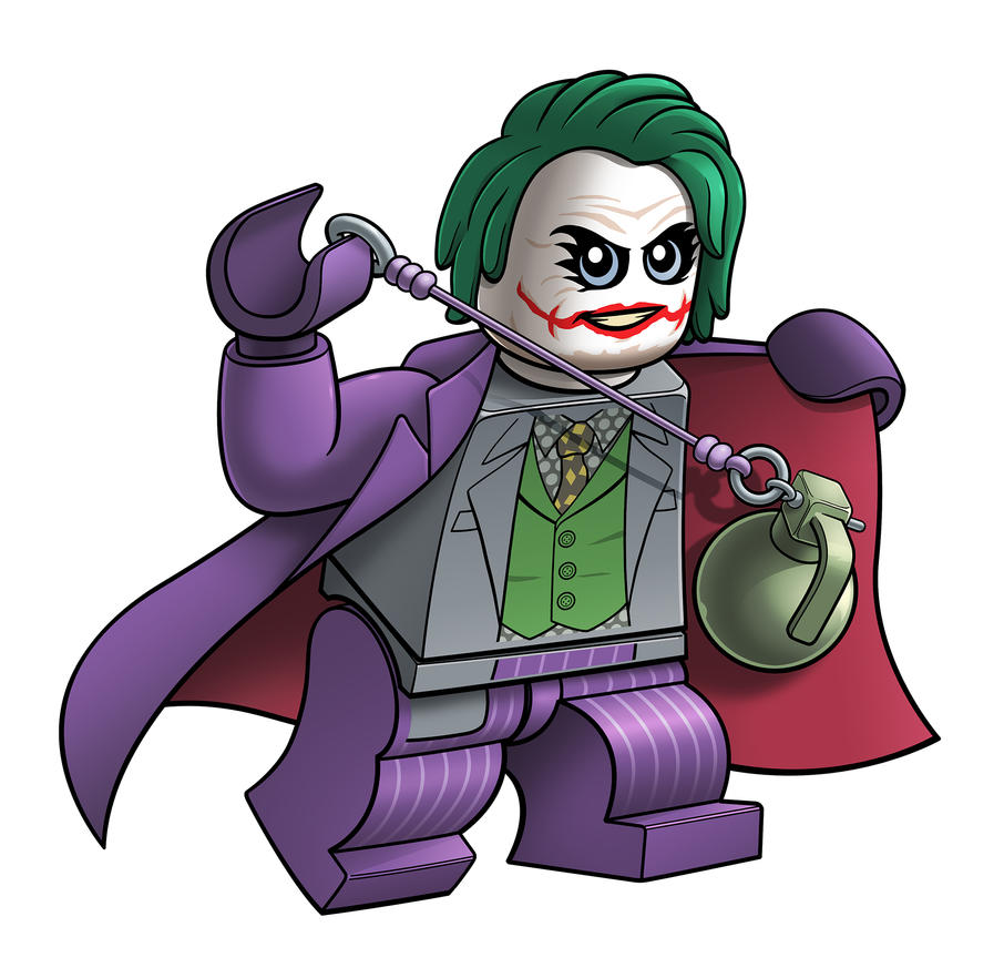 Lego Heath Ledger Joker by RobKing21