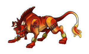 FF7 - RED Xiii LEgo Minifig