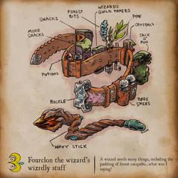 Inktober - Fourclon the wizard's wizardly stuff