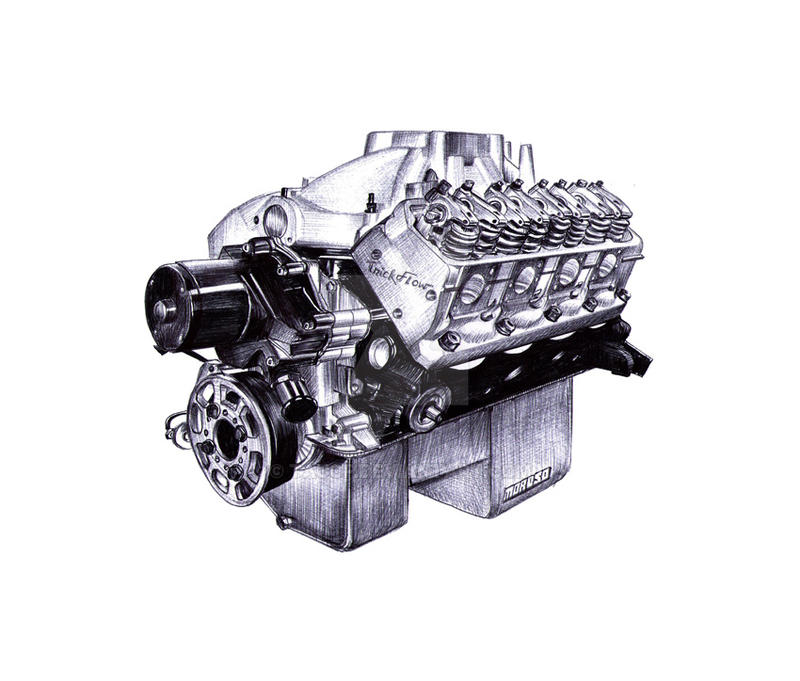 V8 Engine sketch by taucf on DeviantArt