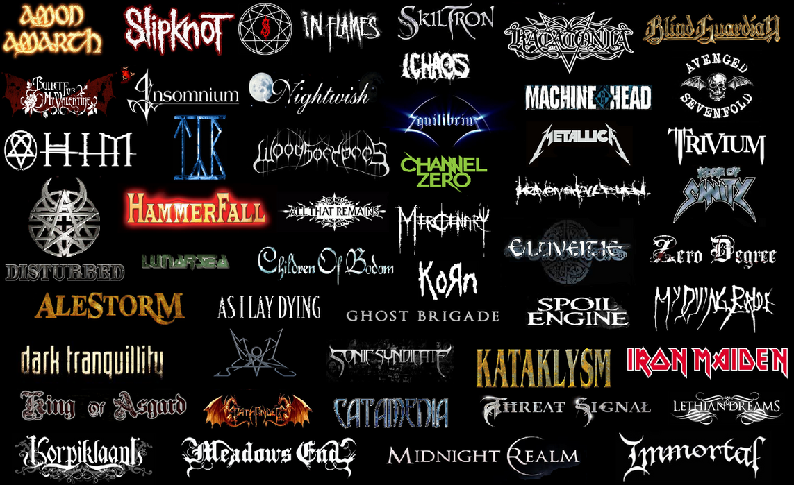 My Favorite Metal Bands By Faithless12 On DeviantArt