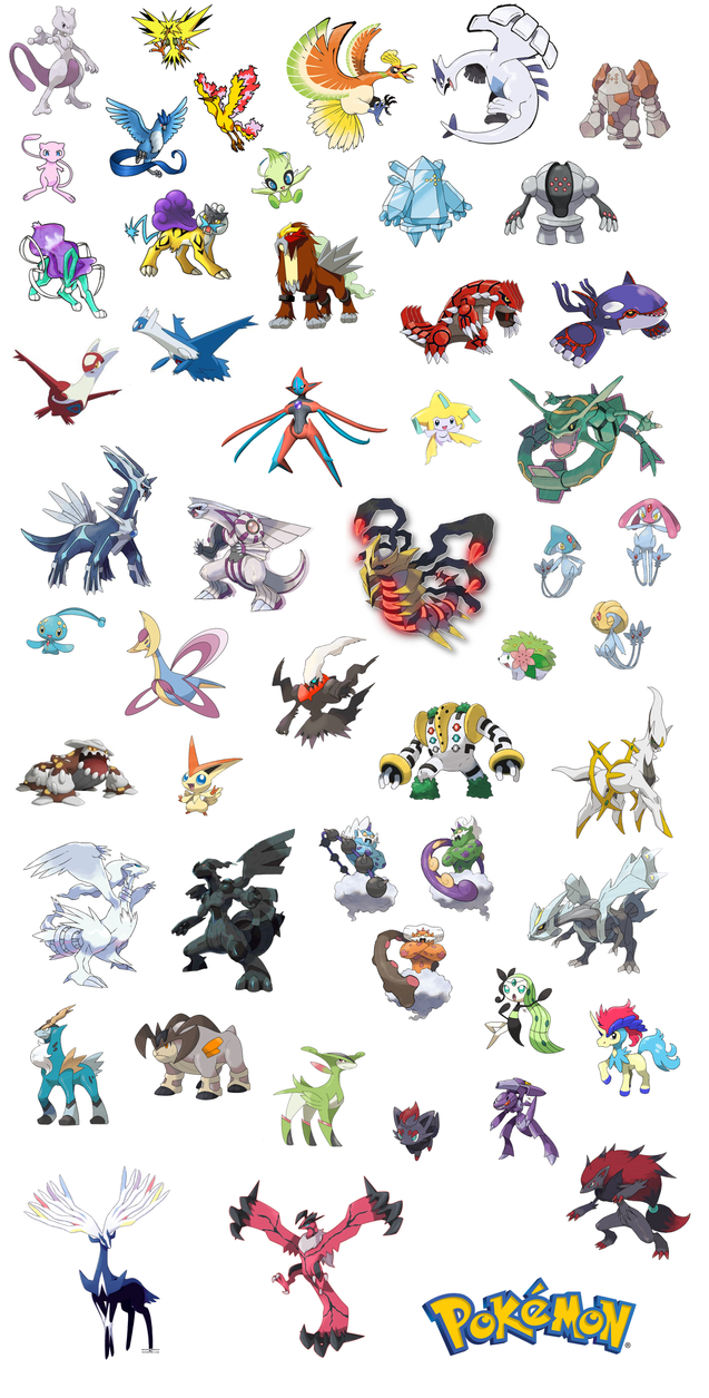 Legendary Pokemon Names List And Pictures Awesome All Legendary ...