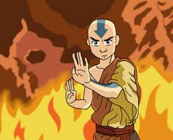Avatar Aang by Juggernaut-Art