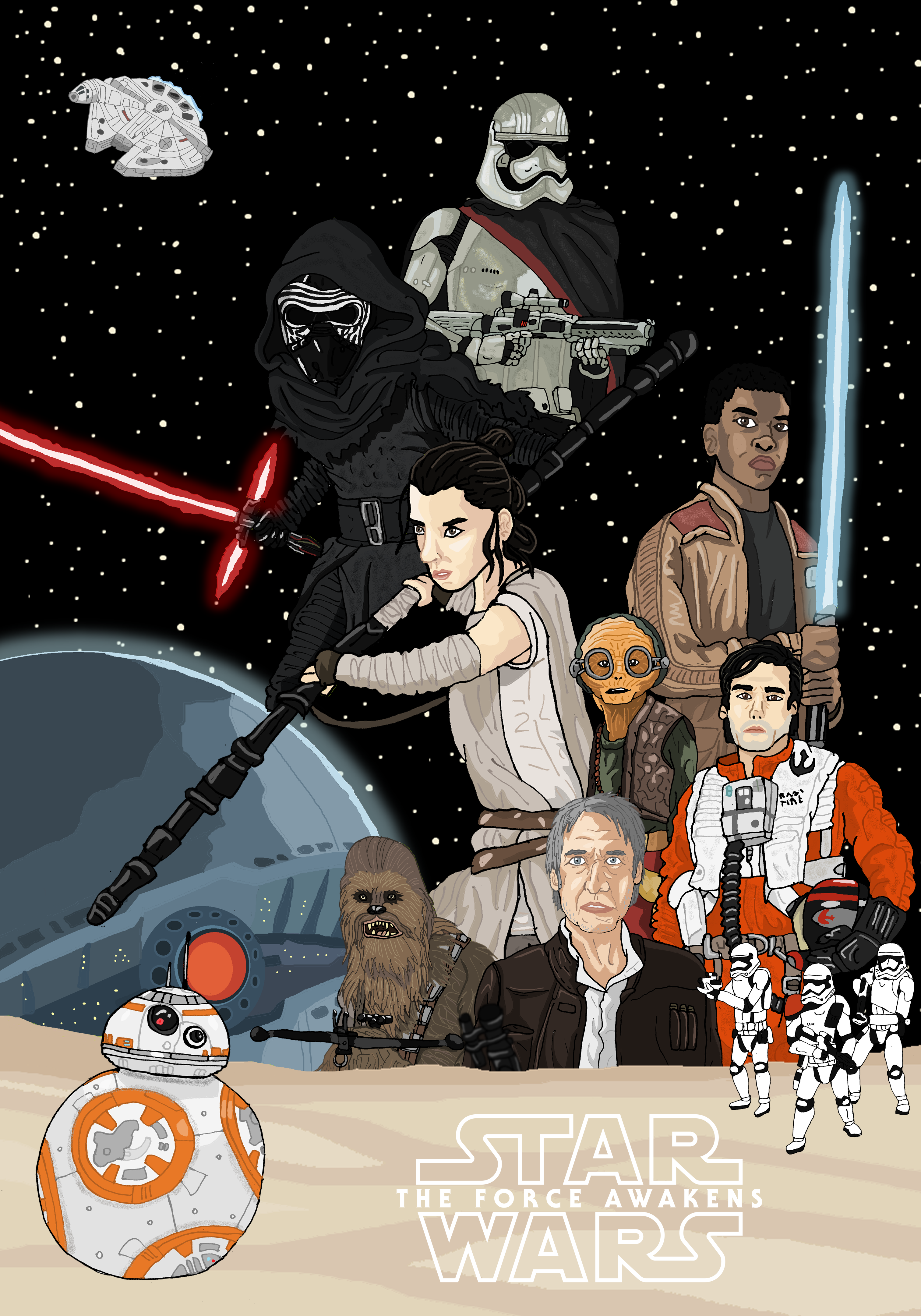 Star Wars - The Force Awakens by Juggernaut-Art